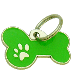 BONE MJAVHOV GREEN - pet ID tag, dog ID tags, pet tags, personalized pet tags MjavHov - engraved pet tags online